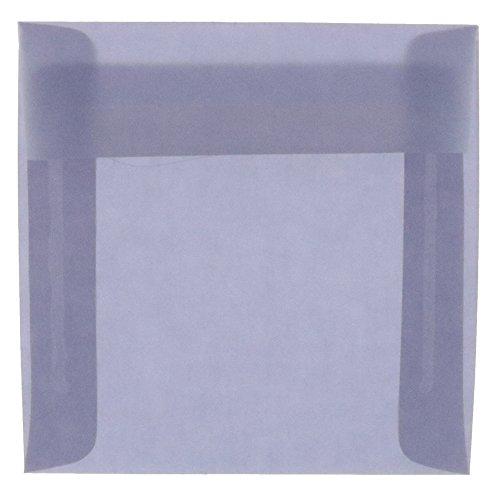 JAM PAPER 8.5 x 8.5 Square Translucent Vellum Invitation Envelopes - Wisteria Purple - 25/Pack ()