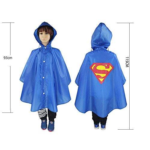 Boqiao Christmas Halloween Costumes Kids Cape Raincoat,Waterproof Polyester Hooded Cosplay Party Cloak -