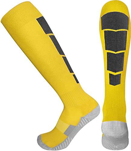 Elite Athletic Socks - Over The Calf - Yellow/Black (Large, Yellow/Black) ()