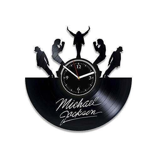 (RainbowClocks Michael Jackson Vinyl Wall Clock King Of Pop Michael Jackson Clock Michael Jackson Vinyl Record Clock Michael Jackson Wall Clock Vintage 12 inch Clock Michael Jackson Xmas Gift)