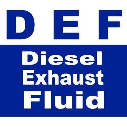 Amazon com: American Vinyl DEF Diesel Exhaust Fluid Sticker