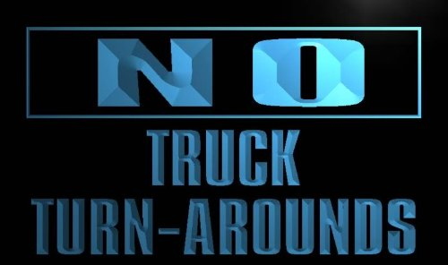 ADV PRO m852-b No Truck Turn-Arounds Neon Light Sign (Truck Plastic Turnaround)