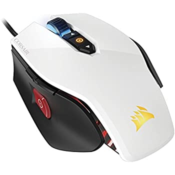 Corsair Gaming M65 PRO RGB FPS Gaming Mouse, Backlit RGB LED, 12000 DPI, Optical, White