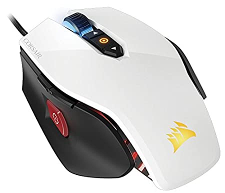 Corsair CH-9300111-NA M65 Pro RGB Fps Gaming Mouse, Backlit LED, 12000 Dpi, Optical, White