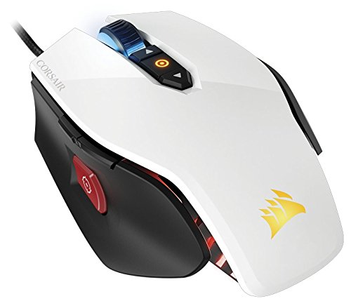 CORSAIR M65 Pro RGB - FPS Gaming Mouse - 12,000 DPI Optical Sensor - Adjustable DPI Sniper Button - Tunable Weights -  White