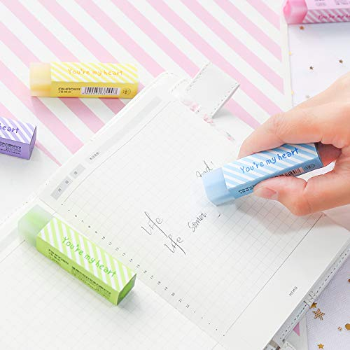 Eraser | pcs/Lot Macaron color Star heart filling Eraser 2B pencil erasers Stationery Office school supplies Material escolar F993 | by HERIUS by HERIUS (Image #2)