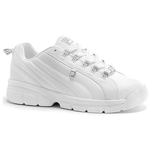 Fila Men's Exchange 2K10 Sneaker,White/White/Metallic Silver,12 M US