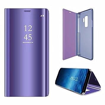 Funda Galaxy S9 Plus Carcasa Samsung S9 Plus Carcasa PU Leather Con TPU Silicona Case[Protector de Pantalla de Vidrio Templado] Galaxy S9 Plus Funda ...