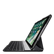 Belkin QODE Ultimate Lite - Funda con Teclado inalámbrico Bluetooth para iPad de 5.ª generación 2017, iPad Air 1 (QWERTY/AZERTY/QWERTZ Funda protección, 6 Meses autonomía, multiángulo) Color Negro