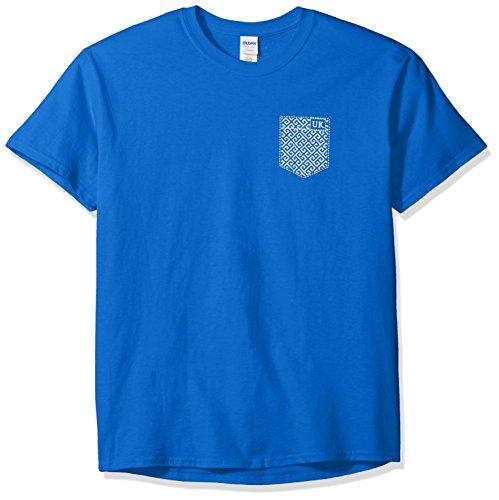New Kentucky Wildcats Blue (New World Graphics NCAA Kentucky Wildcats Faux Pocket Short Sleeve, XX-Large, Royal)