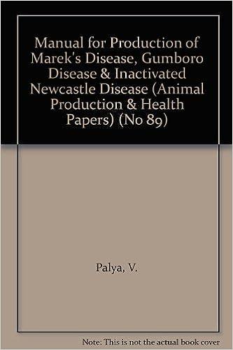Buy Manual for the production of Marek's disease, Gumboro