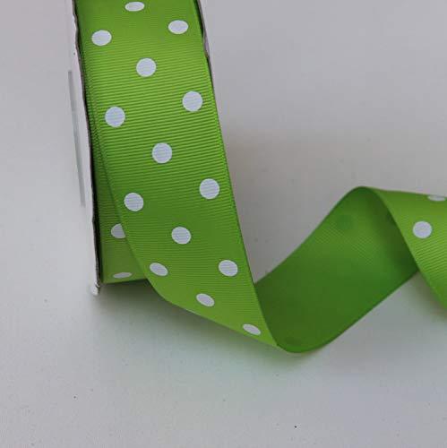 - Apple Green Dot Grosgrain Ribbon - 1.5 Inch X 10 Yard - Grosgrain Ribbon Apple Green Polka Dot