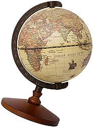 VORCOOL Bola Terrestre Retrô Estilo Europeu Antigo Decorativo Desktop World Collection Globo Mesa Geografia Es