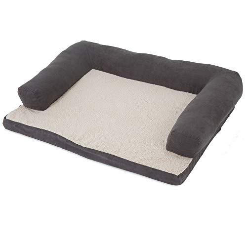 Aspen Pet Bolster Orthopedic Pet Bed for Joint Support - One Size - Assorted Colors Available