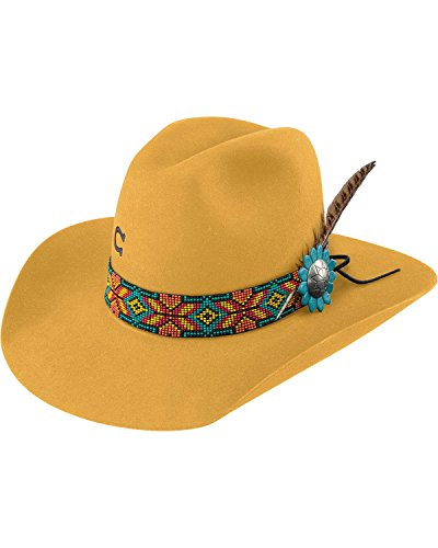 Charlie 1 Horse Women's Yellow Gold Digger 5X Cowgirl Hat Yellow 7 1/8 by Charlie 1 Horse