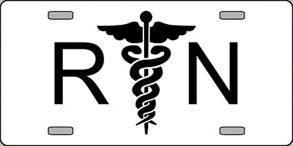 Amazon com: RN Registered Nurse Logo Emblem License Plates
