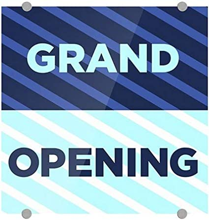 5-Pack 16x16 Stripes Blue Premium Brushed Aluminum Sign Grand Opening CGSignLab