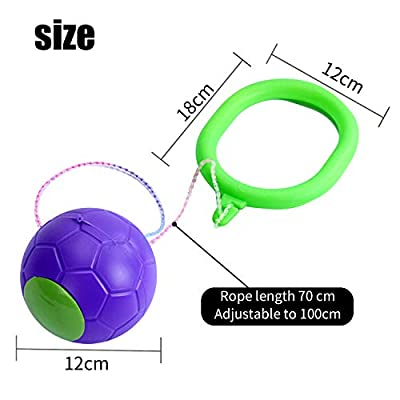 Janwalker Kids Ankle Skip Ball Flash Jump Colorful Sports Balance Hop Jump Ball, Fitness Jump Rope Fat Burning Game for Adults and Children (Purple): Sports & Outdoors