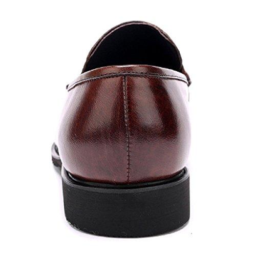 Uomo Deodorante Generoso Traspirante di Scarpe da Rotonda Piedi Resistente Testa all'Usura Pelle Lavoro Set in Quotidiano Brown f5PFPwHq