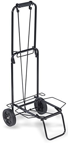 ''TOP PACK'' 75 lbs.Premium Folding Lightweight Shopping Grocery Luggage laundry Cart - Black