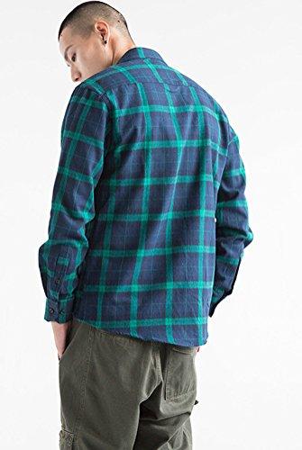Sleeve Plaid s Men Shirt Dress Soojun Flannel F32 Plain Long fqwRcUxIS