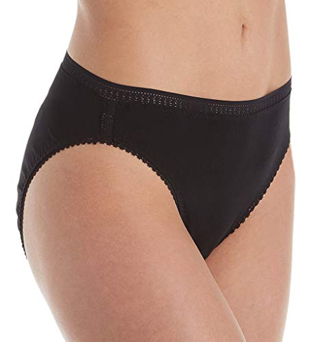 (On Gossamer Women's Cabana Hi Cut Panty Underwear, Black, Medium)