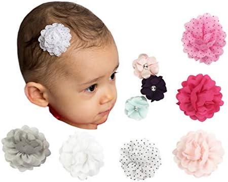 10pcs Newborn Baby Girls Flower Headband Infant Toddler Hair Band Acces MSL