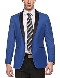 Men's Slim Fit Stylish One-Button Suit Coat Business Blazers Jacket