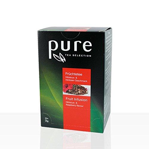 6 x Pure Tea Früchtetee mit Himbeere und Hibiskus 25 Portionen Tee Aufgusbeutel Nylon Tchibo