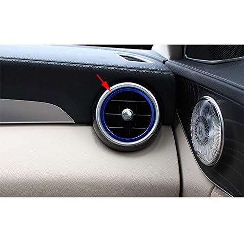 Azul Nrpfell 7Pc Coche-Estilo AC Anillo de Salida Cubierta de Las Etiquetas Engomadas del Ajuste de Los Respiraderos de Aire Acondicionado para Mercedes Benz Clase C W205 Glc 180 200 260
