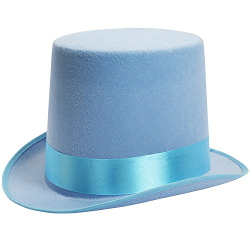 Dress Up Hats for Adults Costume Party Hats for Men Women Unisex by Funny Party Hats (Blue Top Hat)]()