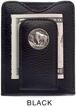 Tokens & Icons Buffalo Nickel Money Clip Credit Card Wallet (80B-P)