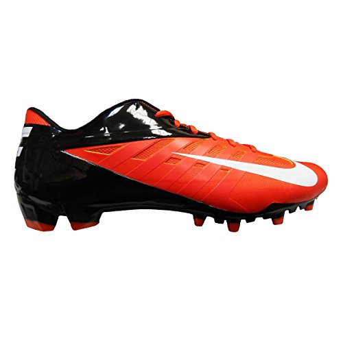 Nike Vapor Pro Low TD Men's Molded Football Cleats (13, Orange Flash/White/Black) (Cam Newton Cleats White)