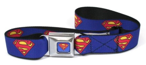 Superman Shield Blue Seatbelt Belt