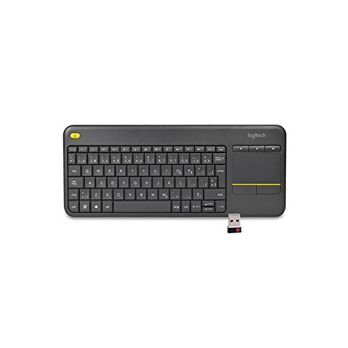 Logitech Wireless Touch K400 Plus French Canadian Portable Keyboard w/3.5
