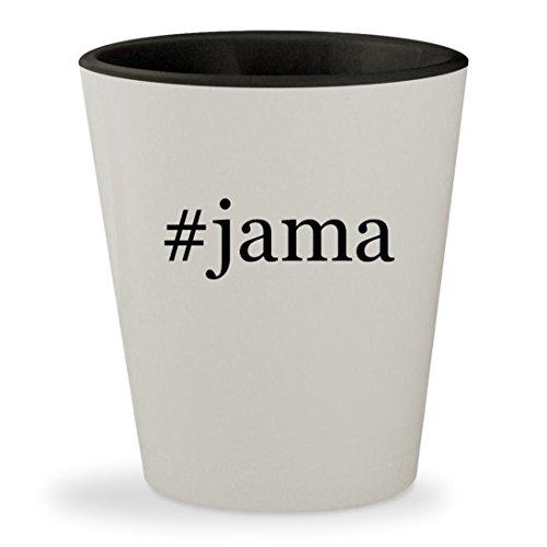 Price comparison product image #jama - Hashtag White Outer & Black Inner Ceramic 1.5oz Shot Glass