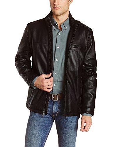 Laverapelle Men's Black Genuine Lambskin Leather Jacket - (Genuine Lambskin Leather)