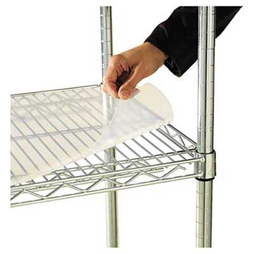 Alera SW59SL3618 Shelf Liners for Wire Shelving, Clear Plastic, 36w X 18d, 4/Pack