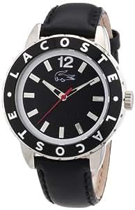 Lacoste 2000671 - Reloj analógico de cuarzo para mujer con correa de piel, color negro