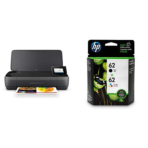 HP OfficeJet 250 All-in-One Portable Printer with Wireless & Mobile Printing (CZ992A) with Std Ink Bundle