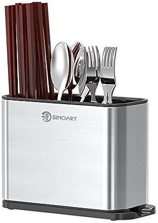 Juego de soporte para cubiertos para cuchillos y tablas de cortar para almacenamiento de cocina, organizador de mesa, utensilios de almacenamiento, soporte para escurreplatos de cocina: Amazon.es: Hogar