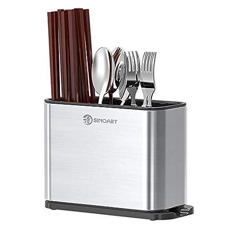 Compra Juego de soporte para cubiertos para cuchillos y tablas de cortar para almacenamiento de cocina, organizador de mesa, utensilios de almacenamiento, ...
