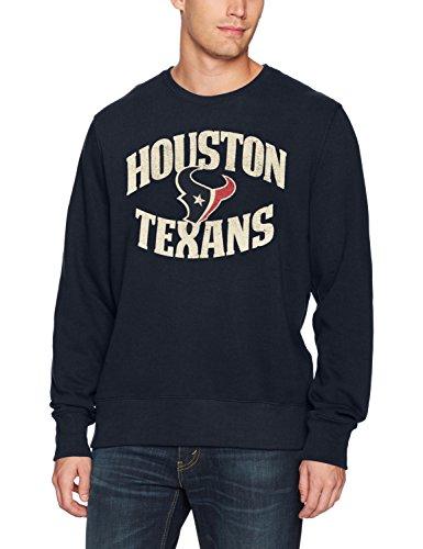 NFL Houston Texans Men's OTS Fleece Crew, Distressed Marbleton, Large ()