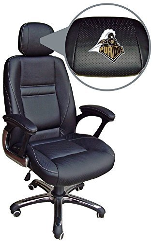NCAA Purdue Boilermakers Leather Office Chair by Wild Sports