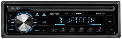 Sound Storm ML46DB Single Din, Bluetooth, MP3/USB/SD FM Car Stereo, (No CD/DVD) Detachable Front Panel, Wireless Remote (1996 Chevrolet Corvette Convertible)