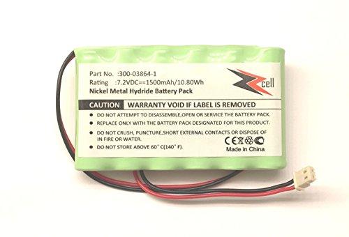 1 Lynx (ZZcell Battery For Honeywell Alarm Lynx L3000, Lynx L5000, Lynx L5100, 300-03864-1 1500mAh (NOTE: Battery Connector - 2 Prong))