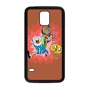 Caso Adventure Time Samsung Galaxy S5 cubierta Negro Funda caja del teléfono celular Funda Cubierta EDGCBCKCO02264