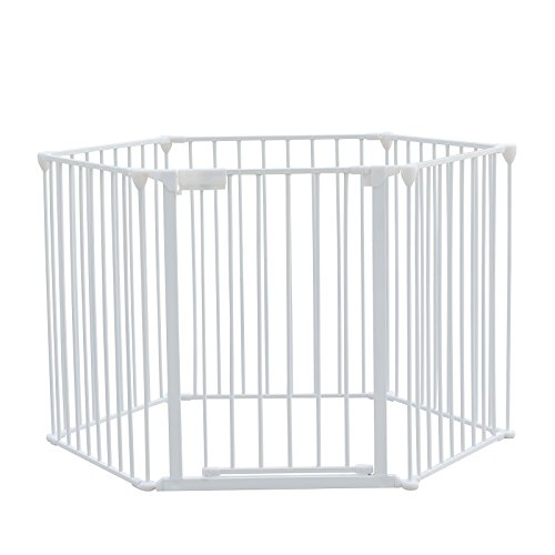 FirstWell Baby Safety Gate - Pet Dog Fireplace Fence Guar...