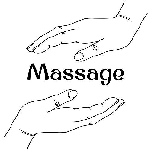 Massage Art Vinyl Mural Health Spa Salon Wall Decorative Sticker Beauty Shop Showcase Decal Business Advertising Glass Case Poster Treatment Sign Print Store Signboard Design Interior Gift Decoration