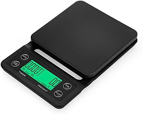 QIQIDEDIAN デジタルエスプレッソコーヒーマシン計量スケール簡単にヴィンテージの午後の時間をきれいにする (Color : Black, Size : 3kg/0.1g)